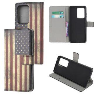Plånboksfodral Samsung Galaxy S21 Ultra - Flagga USA