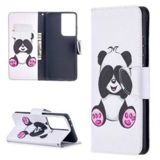 Plånboksfodral Samsung Galaxy S21 Ultra - Panda