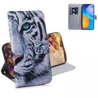 Plånboksfodral Huawei P Smart 2021 – Vit Tiger