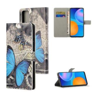 Plånboksfodral Huawei P Smart 2021 - Blå Fjäril