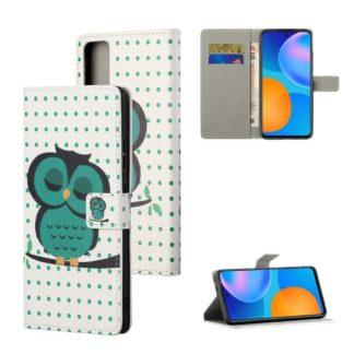 Plånboksfodral Huawei P Smart 2021 - Prickigt med Uggla
