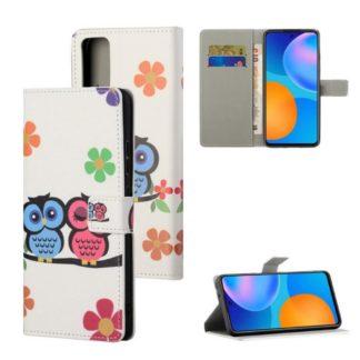 Plånboksfodral Huawei P Smart 2021 - Ugglor & Blommor