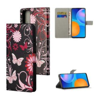 Plånboksfodral Huawei P Smart 2021 - Svart med Fjärilar