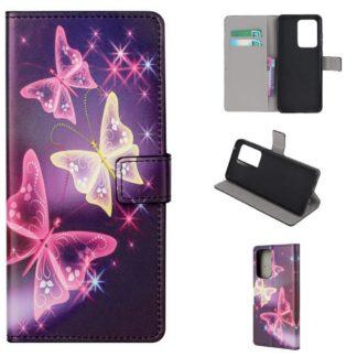 Plånboksfodral Samsung Galaxy A32 5G - Lila / Fjärilar