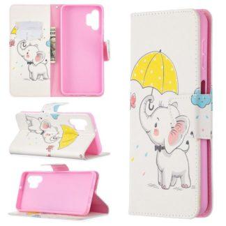 Plånboksfodral Samsung Galaxy A32 5G – Elefant med Paraply