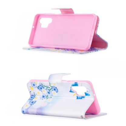 Plånboksfodral Samsung Galaxy A32 5G – Fjärilar och Blommor