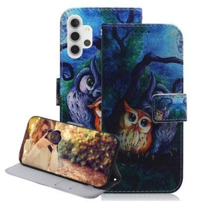 Plånboksfodral Samsung Galaxy A32 5G – Ugglor I Månsken