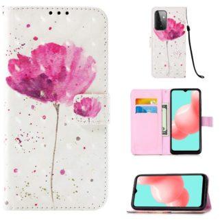 Plånboksfodral Samsung Galaxy A52 – Rosa Blomma