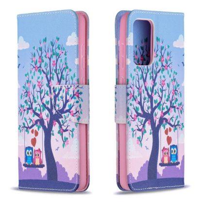 Plånboksfodral Samsung Galaxy A52 – Ugglor på Gunga