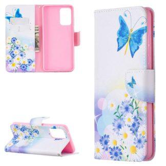 Plånboksfodral Samsung Galaxy A52 – Fjärilar och Blommor