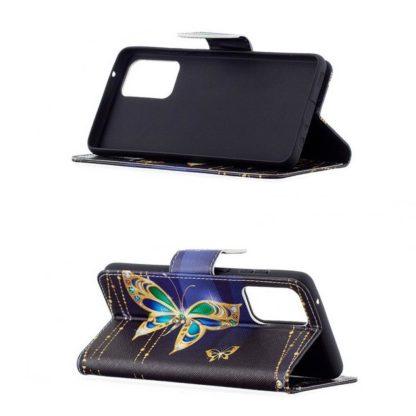 Plånboksfodral Samsung Galaxy A52 – Guldfjäril