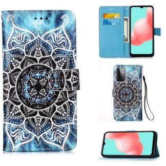 Plånboksfodral Samsung Galaxy A72 – Blå Mandala