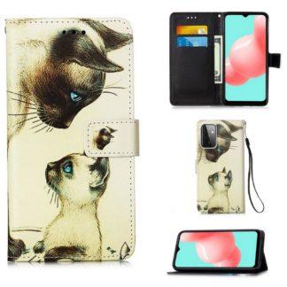 Plånboksfodral Samsung Galaxy A72 – Katter
