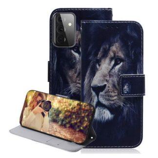 Plånboksfodral Samsung Galaxy A72 – Lejon