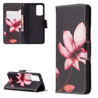 Plånboksfodral Samsung Galaxy A72 – Rosa Blomma