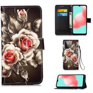 Plånboksfodral Samsung Galaxy A72 – Rosor