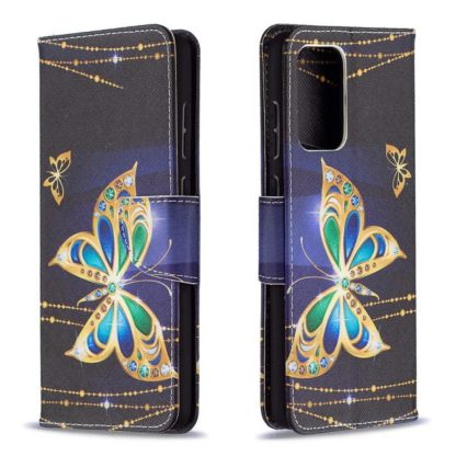Plånboksfodral Samsung Galaxy A72 – Guldfjäril