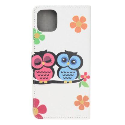 Plånboksfodral Xiaomi Mi 11 Lite - Ugglor & Blommor