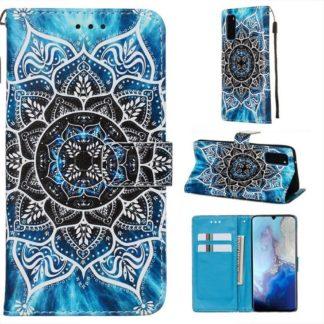 Plånboksfodral Samsung Galaxy A02s – Blå Mandala