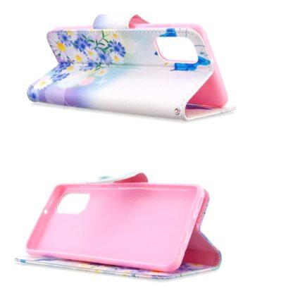 Plånboksfodral Samsung Galaxy A02s – Fjärilar och Blommor