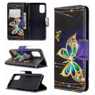 Plånboksfodral Samsung Galaxy A02s – Guldfjäril