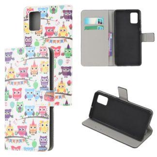 Plånboksfodral Samsung Galaxy A02s - Ugglor På Kalas