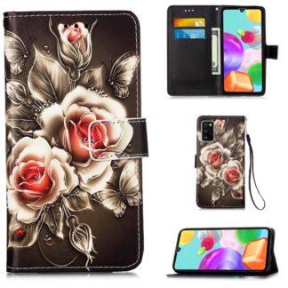 Plånboksfodral Samsung Galaxy A02s – Rosor