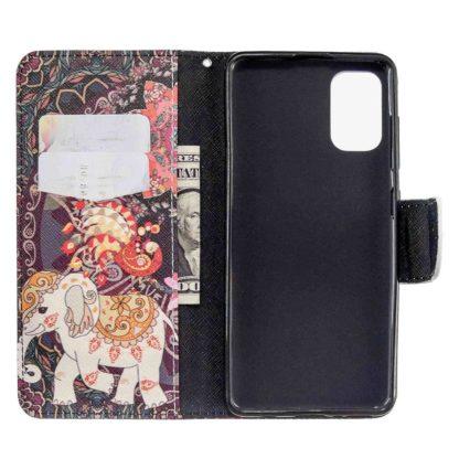 Plånboksfodral Samsung Galaxy A02s – Indiskt / Elefant