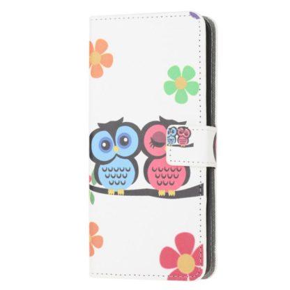 Plånboksfodral Samsung Galaxy A02s - Ugglor & Blommor