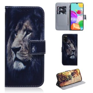 Plånboksfodral Samsung Galaxy A02s – Lejon
