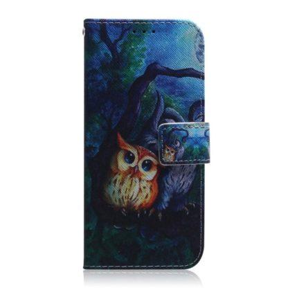 Plånboksfodral Samsung Galaxy A02s – Ugglor I Månsken