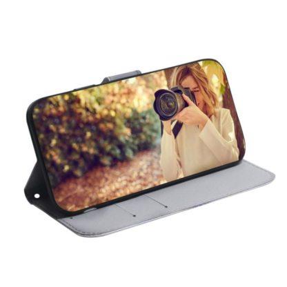 Plånboksfodral Samsung Galaxy A02s – Vit Tiger