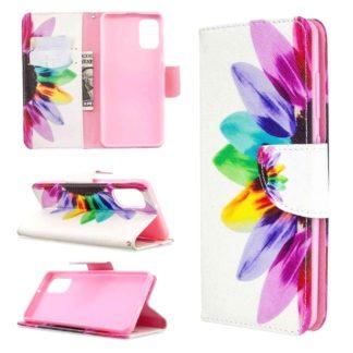 Plånboksfodral Samsung Galaxy A02s – Färgglad Blomma