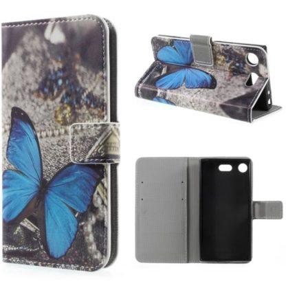 Plånboksfodral Sony Xperia XZ1 Compact – Blå Fjäril