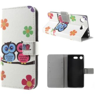 Plånboksfodral Sony Xperia XZ1 Compact – Ugglor & Blommor