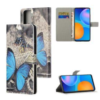 Plånboksfodral Samsung Galaxy S21 - Blå Fjäril