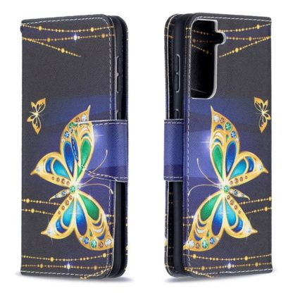 Plånboksfodral Samsung Galaxy S21 – Guldfjäril