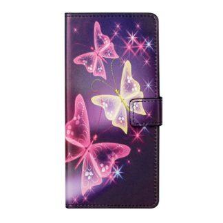 Plånboksfodral Samsung Galaxy S21 Ultra - Lila / Fjärilar