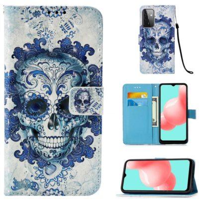 Plånboksfodral Samsung Galaxy A52 – Döskalle