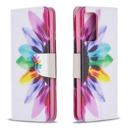 Plånboksfodral Samsung Galaxy A72 – Färgglad Blomma