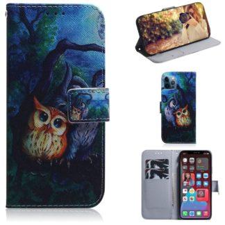 Plånboksfodral Apple iPhone 12 Pro – Ugglor I Månsken