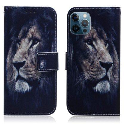 Plånboksfodral iPhone 12 Pro Max – Lejon