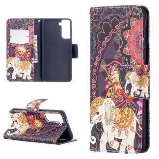 Plånboksfodral Samsung Galaxy S21 – Indiskt / Elefant