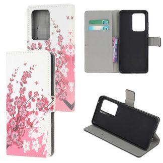 Plånboksfodral Samsung Galaxy S21 Ultra - Körsbärsblommor