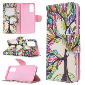 Plånboksfodral Huawei P Smart 2021 – Färgglatt Träd