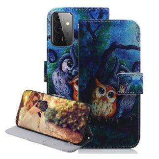 Plånboksfodral Samsung Galaxy A72 – Ugglor I Månsken