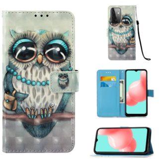 Plånboksfodral Samsung Galaxy A72 – Utsmyckad Uggla
