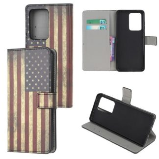 Plånboksfodral Samsung Galaxy A72 - Flagga USA