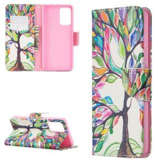 Plånboksfodral Samsung Galaxy A72 – Färgglatt Träd
