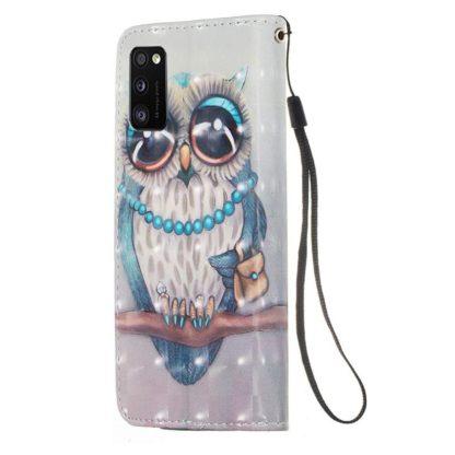 Plånboksfodral Samsung Galaxy A02s – Utsmyckad Uggla